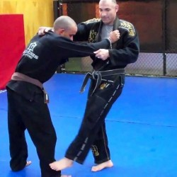 "Learn the simple yet effective ""outside foot sweep"""