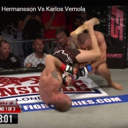 Watch Swede Jack Hermansson Armbar Karlos Vemola and become WFS champion