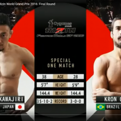 FULL FIGHT: Tatsuya Kawajiri vs Kron Gracie Rizin World Grand-Prix 2016