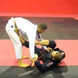 Leg Lasso guard sweep to footlock